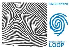 Forma negra de la huella dactilar segura finger de la identificación de la identificación Fotos de archivo