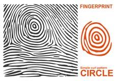 Forma negra de la huella dactilar segura finger de la identificación de la identificación Ilustración del vector Fotos de archivo