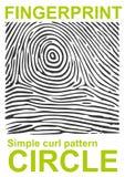 Forma negra de la huella dactilar segura finger de la identificación de la identificación Ilustración del vector Foto de archivo libre de regalías