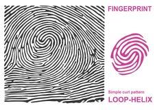 Forma negra de la huella dactilar segura finger de la identificación de la identificación Ilustración del vector Fotografía de archivo libre de regalías