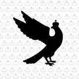 Forma negra del águila en corona ejemplo del bector stock de ilustración