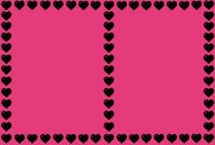 Forma negra del corazón en fondo rosado Corazones Dot Design Puede ser utilizado para los artículos, impresión, propósito del eje imagen de archivo