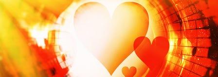 Forma nello spazio di colore, fondo grafico astratto del cuore del collage Fotografia Stock