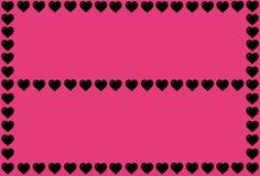 Forma nera del cuore su fondo rosa Cuori Dot Design Può essere usato per gli articoli, la stampa, lo scopo dell'illustrazione, fo illustrazione vettoriale