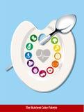 A forma nutriente do coração da paleta de cores Fotografia de Stock Royalty Free