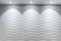 Forma ondulada da telha branca Imagens de Stock Royalty Free