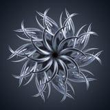 forma orgánica extranjera abstracta de la estrella de la flor 3d ilustración del vector