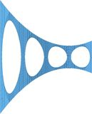 forma orgánica geométrica de 3D Wireframe Fotos de archivo