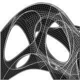 forma orgánica geométrica de 3D Wireframe Imagen de archivo