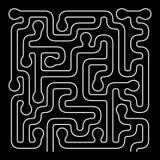 Forma org?nica Maze Vector Design Solucione el concepto del problema libre illustration