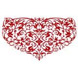 Forma ornamentale del cuore Immagini Stock Libere da Diritti
