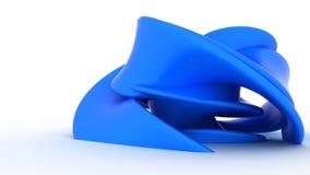 Forma plástica azul abstracta Imagen de archivo libre de regalías