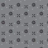 A forma pointy preta da flor e da cruz da extremidade com pouca estrela dispersa Fotografia de Stock
