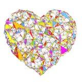 Forma poligonal abstracta del corazón Fotografía de archivo