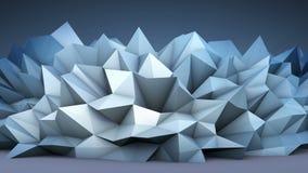 Forma poligonal abstrata ilustração royalty free