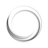 Forma preta do logotipo do vetor do círculo Foto de Stock Royalty Free