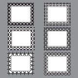 A forma preto e branco projetou quadros Imagem de Stock Royalty Free