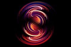 Forma que brilla intensamente del fractal abstracto Imagenes de archivo