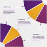 Forma radial infographic del ejemplo del vector Ilustración del Vector