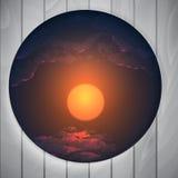 Forma redonda abstrata com quadro Imagem de Stock