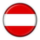 Forma redonda da bandeira austríaca da tecla Imagens de Stock