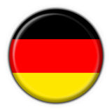 Forma redonda da bandeira da tecla de Alemanha Fotografia de Stock Royalty Free