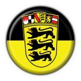 Forma redonda da bandeira da tecla de Baden Württemberg Foto de Stock Royalty Free
