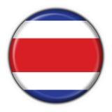 Forma redonda da bandeira da tecla de Costa-Rica Foto de Stock Royalty Free