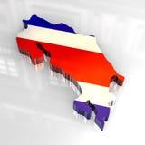 Forma redonda da bandeira da tecla de Costa-Rica Foto de Stock