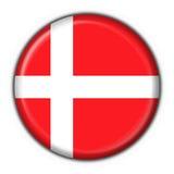 Forma redonda da bandeira da tecla de Dinamarca ilustração do vetor