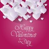Forma rosa del cuore di amore di Valentine Day Gift Card Holiday Immagini Stock