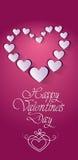 Forma rosa del cuore di amore di Valentine Day Gift Card Holiday Immagine Stock