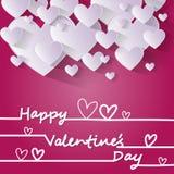 Forma rosa del cuore di amore di Valentine Day Gift Card Holiday Immagine Stock Libera da Diritti