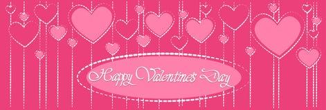 Forma rosa del cuore di amore di Valentine Day Gift Card Holiday Immagini Stock Libere da Diritti