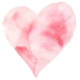 Forma rosa del cuore di struttura dell'acquerello Fotografie Stock