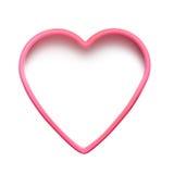 Forma rosada del corazón Imagen de archivo libre de regalías