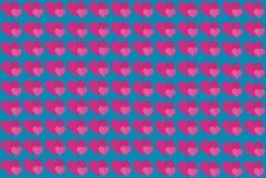 Forma rosada del coraz?n en fondo azul Corazones Dot Design Puede ser utilizado para los art?culos, impresi?n, prop?sito del ejem fotos de archivo libres de regalías