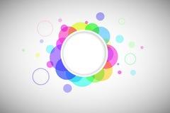 Forma rotonda con i cerchi colorati Immagine Stock