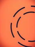 Forma rotonda del cerchio in tessuto rosso Fotografie Stock Libere da Diritti