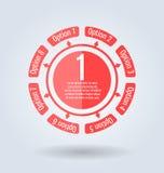 Forma rotonda del modello moderno e chiaro può essere usato per il infographics illustrazione vettoriale