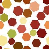 Forma sem emenda do hexágono, teste padrão geométrico abstrato do fundo Molde, superfície, detalhes & Web ilustração stock