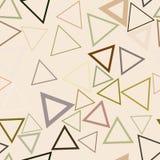 Forma sem emenda do triângulo, teste padrão geométrico abstrato do fundo Detalhes, conceito, repetição & desarrumado ilustração do vetor