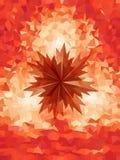 Forma sharped rojo en modelo rojo del triángulo Fotos de archivo