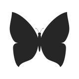 Forma simple de la silueta de la mariposa Fotografía de archivo libre de regalías