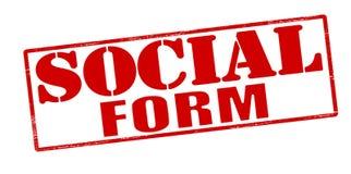 Forma sociale Immagine Stock