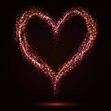 Forma Sparkling do coração Imagens de Stock Royalty Free