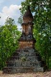 Forma Stupa de Lotus Bud en el parque histórico de Sukhothai Imagen de archivo