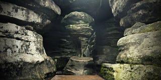 Forma stupefacente della roccia Fotografie Stock