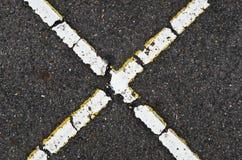 Forma x sulla strada fotografia stock libera da diritti
