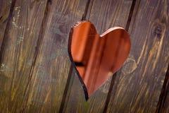 Forma tagliata del cuore Fotografia Stock